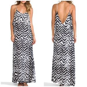 Blue Life • Summer Lovin Ruffle V Back Maxi Dress